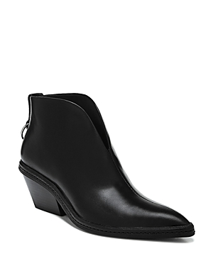 Via Spiga Boots WOMEN'S FIANNA POINTED TOE LEATHER ANKLE BOOTIES