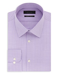 The Men's Store at Bloomingdale's - Windowpane-Check Slim Fit Dress Shirt - 100% Exclusive