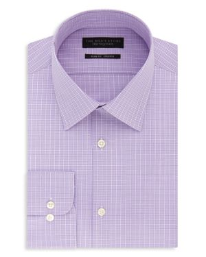 The Men's Store at Bloomingdale's Windowpane-Check Slim Fit Dress Shirt - 100% Exclusive