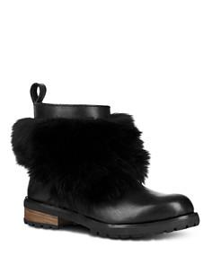 UGG® - Women's Otelia Round Toe Leather & Sheepskin Booties