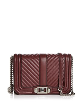 Rebecca Minkoff Love Small Chevron Quilted Leather Crossbody