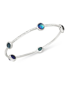 Ippolita Sterling Silver Rock Candy Eclipse Five Stone Bangle Bracelet