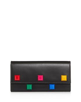 Salvatore Ferragamo - Studio Rainbow Stud Leather Continental Wallet