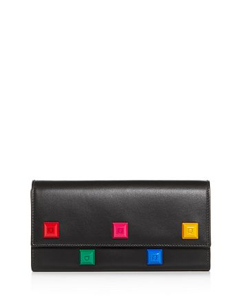 Salvatore Ferragamo - Studio Rainbow Stud Leather Continental Wallet