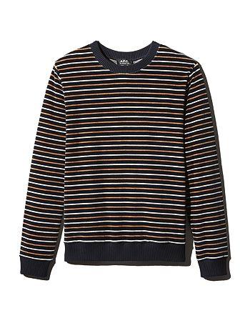 A.P.C. - Striped Velour Sweatshirt