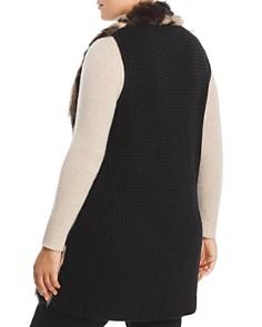 One A Plus - Faux-Fur Front Sweater Vest