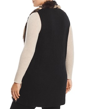 One A Plus - Faux-Fur Front Sweater Vest