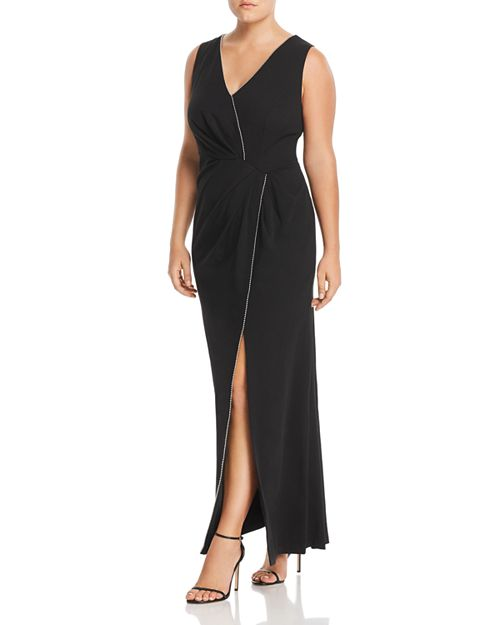 Adrianna Papell Plus Embellished Twist-Front Gown | Bloomingdale\'s