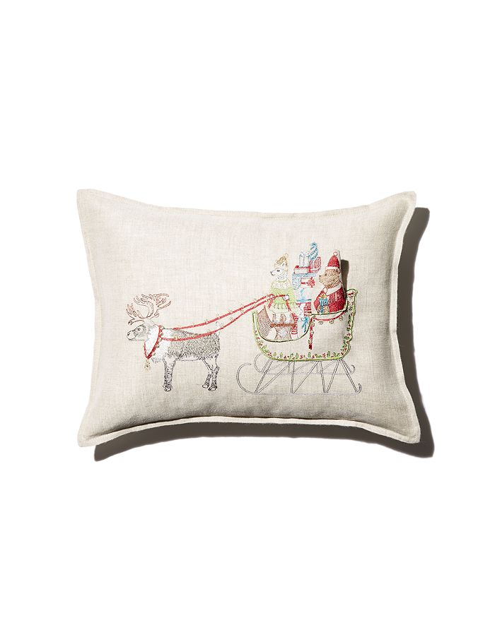 "Coral & Tusk - Sleigh Embroidered Pocket Decorative Pillow, 12"" x 16"""
