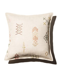"""Coral & Tusk - Tumbleweed Embroidered Decorative Pillow, 16"""" x 16"""""""