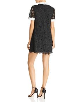 AQUA - Collared Lace Shift Dress - 100% Exclusive