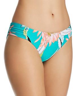 Trina Turk - Shangri La Floral Side Shirred Hipster Bikini Bottom