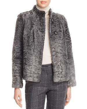 MAXIMILIAN FURS Persian Lamb Fur Coat - 100% Exclusive in Anthracite