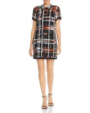 PARKER Grayson Embellished Mini Dress in Peach Multi