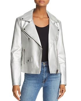 Rebecca Minkoff - Hudson Metallic Moto Jacket