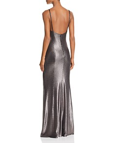 Aidan by Aidan Mattox - Metallic Knit Mermaid Dress