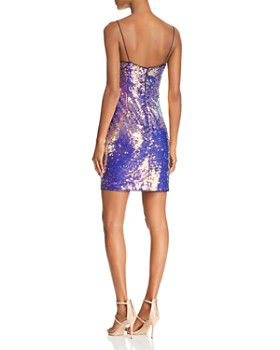 Aidan by Aidan Mattox - Sequined Mini Dress