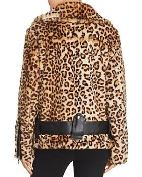 BLANKNYC - Faux-Fur Leopard Print Moto Jacket