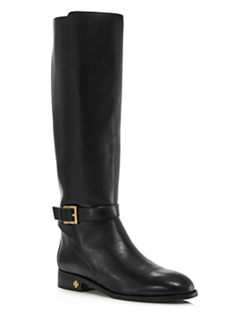 Tory Burch - Women's Brooke Round Toe Leather Riding Boots