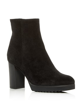 La Canadienne - Women's Myranda Waterproof Suede High Block-Heel Platform Booties