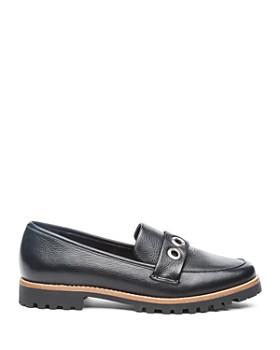 Bernardo - Women's Ozzy Round Toe Grommet Leather Loafers
