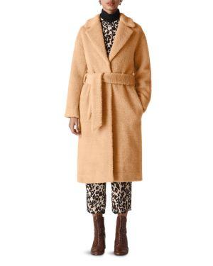 Whistles Textured Wrap Coat