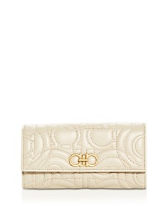 Salvatore Ferragamo - Gancini Quilted Leather Continental Wallet