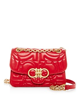 Salvatore Ferragamo - Gancini Quilted Leather Shoulder Bag