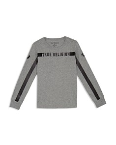 True Religion - Boys' Long-Sleeve Logo Tee - Little Kid, Big Kid