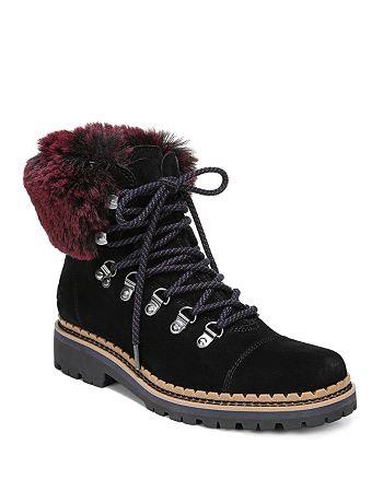0054d97e7 Sam Edelman - Women s Bowen Fur   Suede Hiking Boots