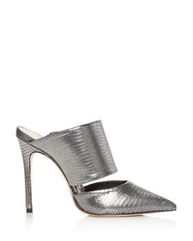 SCHUTZ - Quedera Pointed-Toe High-Heel Mules