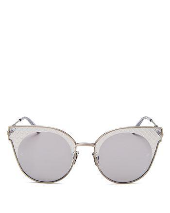 Bottega Veneta - Women's Intrecciato Cat Eye Sunglasses, 50mm
