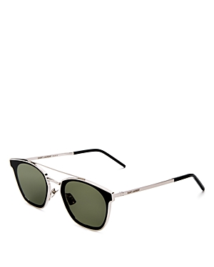 Saint Laurent Men\\\'s Brow Bar Square Sunglasses, 61mm-Men