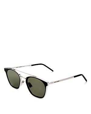 Saint Laurent Men\\\'s Brow Bar Square Sunglasses, 61mm-Men