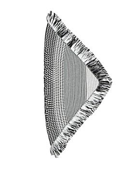 Rebecca Minkoff -  Fringed Jacquard Triangle Scarf