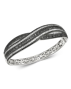 Roberto Coin - 18K White Gold Fantasia Black & White Diamond Bangle Bracelet