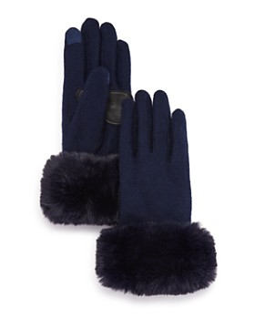 Echo - Faux Fur-Cuff Tech Gloves