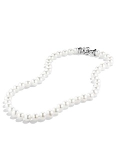 """David Yurman - Sterling Silver Pearl Collection Necklace with Diamonds, 18"""""""