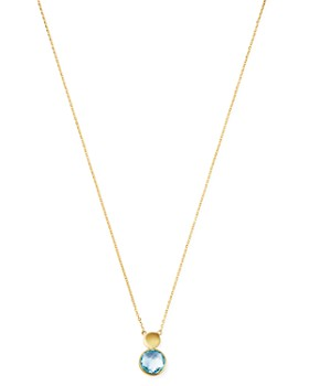 """Bloomingdale's - Blue Topaz Pendant Necklace in 14K Yellow Gold, 18"""" - 100% Exclusive"""