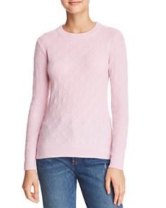 Minnie Rose - Diamond-Knit Cashmere Sweater