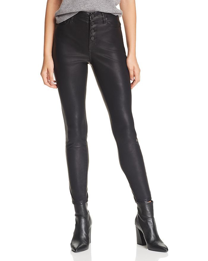 Blanknyc BUTTON-FRONT FAUX-LEATHER SKINNY PANTS IN DADDY SODA - 100% EXCLUSIVE