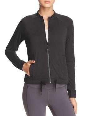 GAIAM X JESSICA BIEL Bleeker Zip-Front Jacket in Black