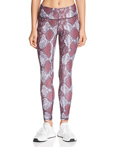 AQUA - High-Rise Snake Print Leggings - 100% Exclusive