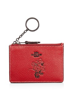 COACH - Disney x Coach Minnie Mouse Motif Mini Skinny ID Case