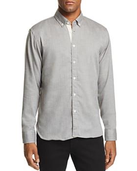 Billy Reid - Irvine Micro-Herringbone Regular Fit Button-Down Shirt