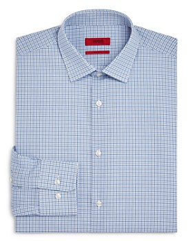 HUGO - Tattersall-Check Regular Fit Dress Shirt