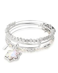 Alex and Ani - Crystal Snowflake Set of 3 Charm Bracelets