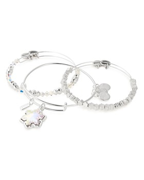 Alex and Ani - Crystal Snowflake Set of 3 Charm Bracelets