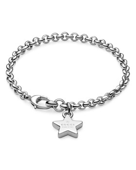 Gucci - Trademark Sterling Silver Bracelet with Star Charm