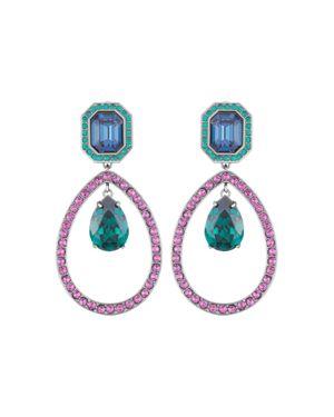 ATELIER SWAROVSKI By Tabitha Simmons Statement Drop Earrings in Multi/Silver